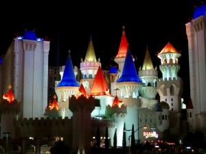 Das Excalibur bei Nacht