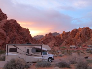 Campsite im Valley of Fire State Park