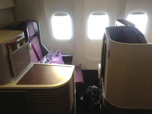 reisetips fly business class thai airways