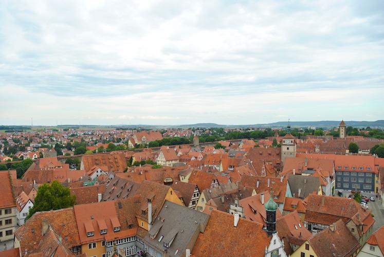 Utsikt over Rothenburg fra rådhustårnet.