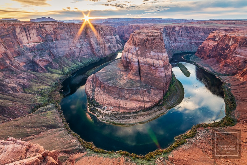 Der Sonnenuntergang am Horseshoe Bend