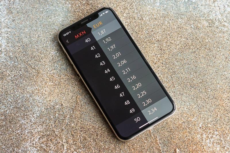Elk Währungsrechner auf dem iPhone
