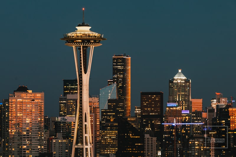 Space Needle bei Nacht