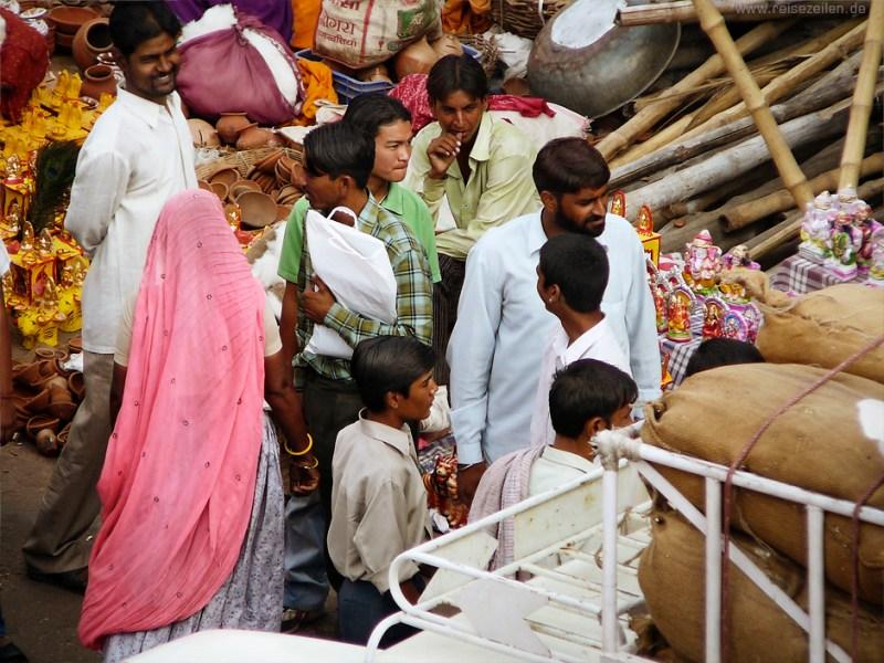 Indien - Reisetipps - Reisen - Rajasthan - Marktszene Jaipur