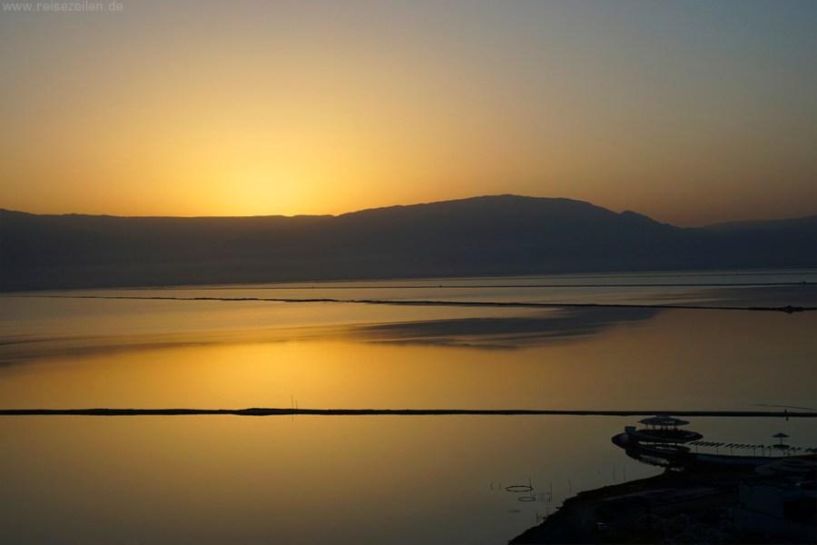 Israel Reisen Reisetipps Sonnenaufgang am Toten Meer