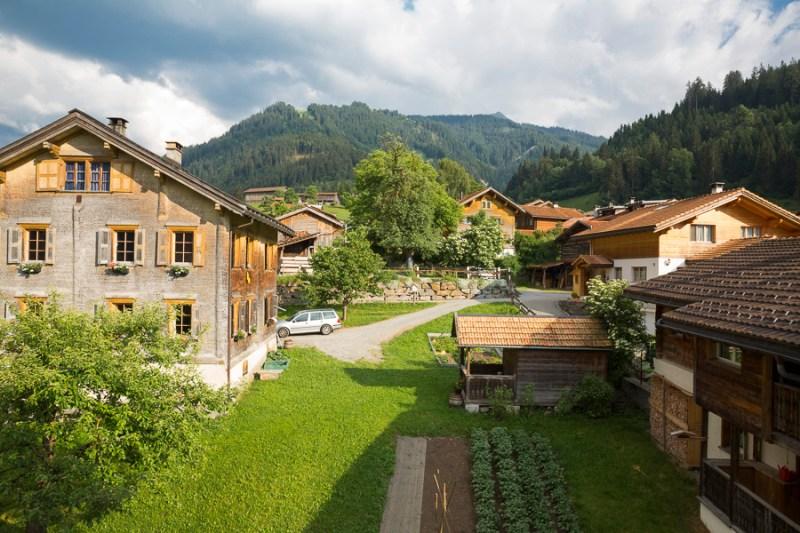 Hoteltipp Graubünden Schweiz Türmlihus Fideris - Blick aus dem Fenster