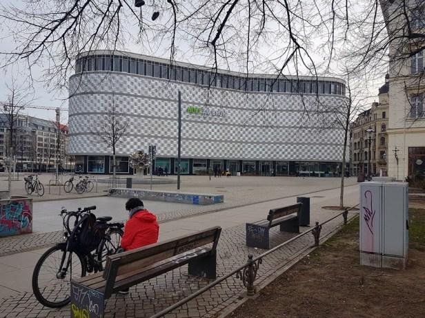 Moderne winkelcentra in hartje Leipzig