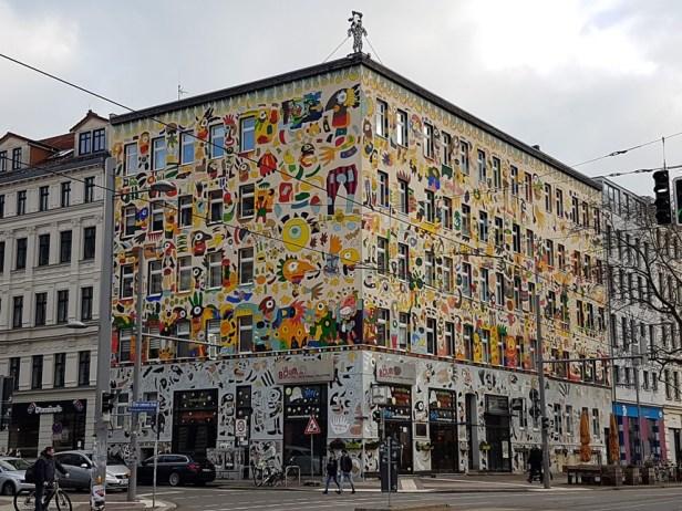 Street art in Karl Liebknecht straat, Leipzig