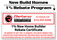 1% New Home Builder Rebate Program