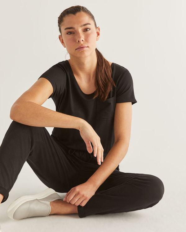 Hyba Black Jumpsuit Regular Reitmans
