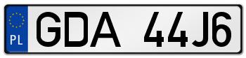 GDA rejestracja samochodu Pruszcz Gdański