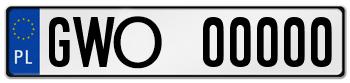 tablice rejestracyjne Wejherowo GWO