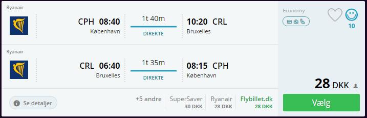 Bruxelles med Ryanair