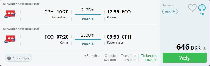 Fly til Rom - August 2016