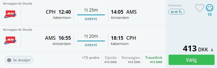 Flybilletter til Amsterdam - november 2016