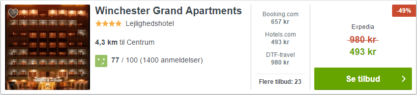 Winchester Grand Apartments i Dubai