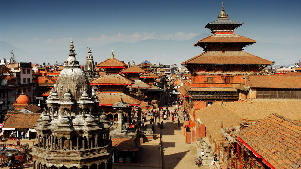 Durbar torvet - Katmandu i Nepal
