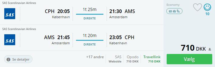 Fly til Amsterdam i efterårsferien