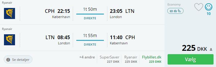 Flyv til London i efterårsferien