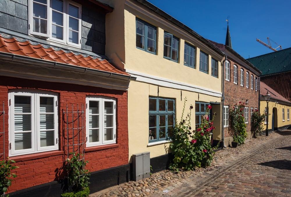 Hyggelig gade i Ribe