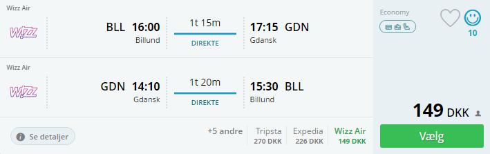 Billige flybilletter til Gdansk i Polen