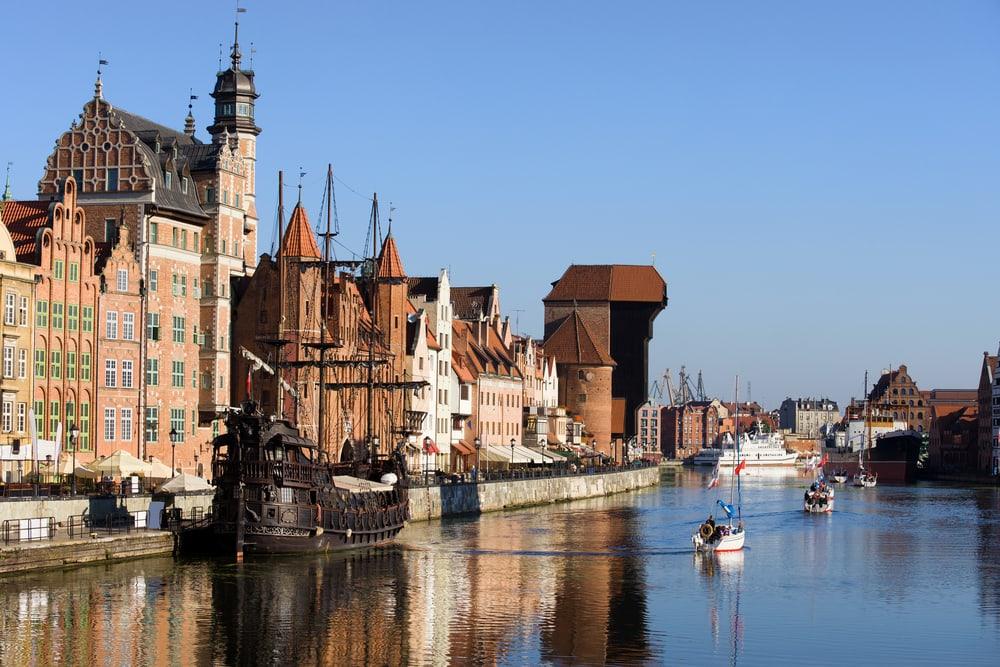 Motlawa floden - Gdansk i Polen