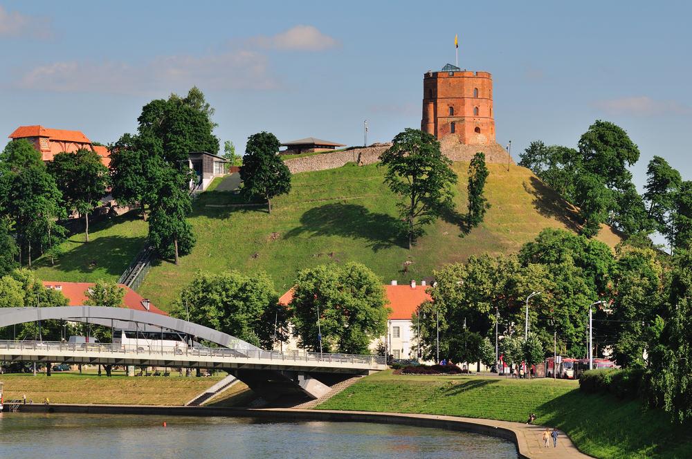 Vilnius i Litauen: Gediminas Tårnet