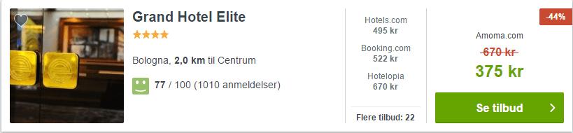 Grand Hotel Elite - Bologna i Italien