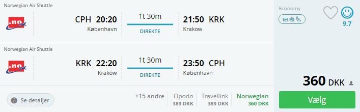 Billige flybilletter til Krakow i Polen