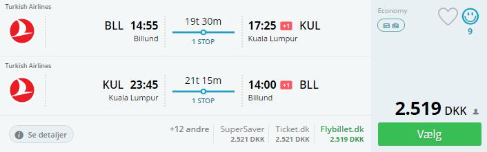 Billige flybilletter til Kuala Lumpur
