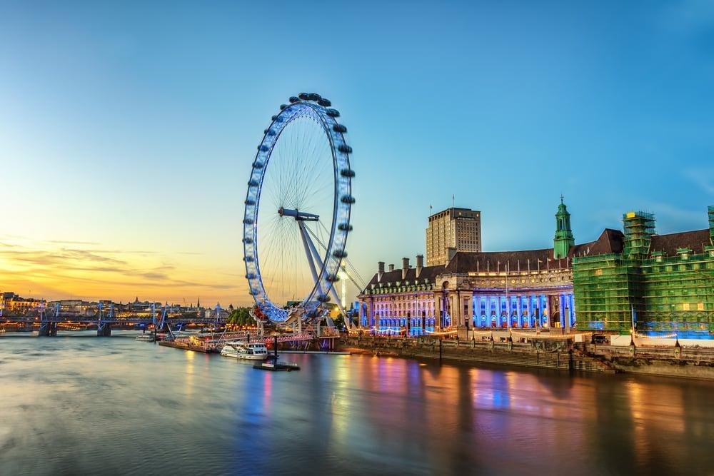 London Eye ved Themsen i London
