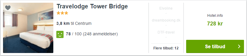 Hotel Travelodge Tower Bridge - London