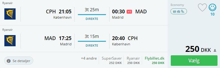 Billige flybilletter til Madrid i Spanien - September 2016
