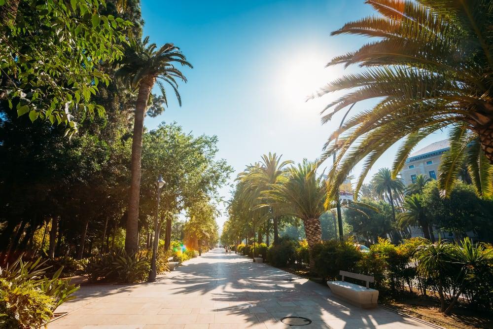 Paseo del Parque - Malaga i Spanien