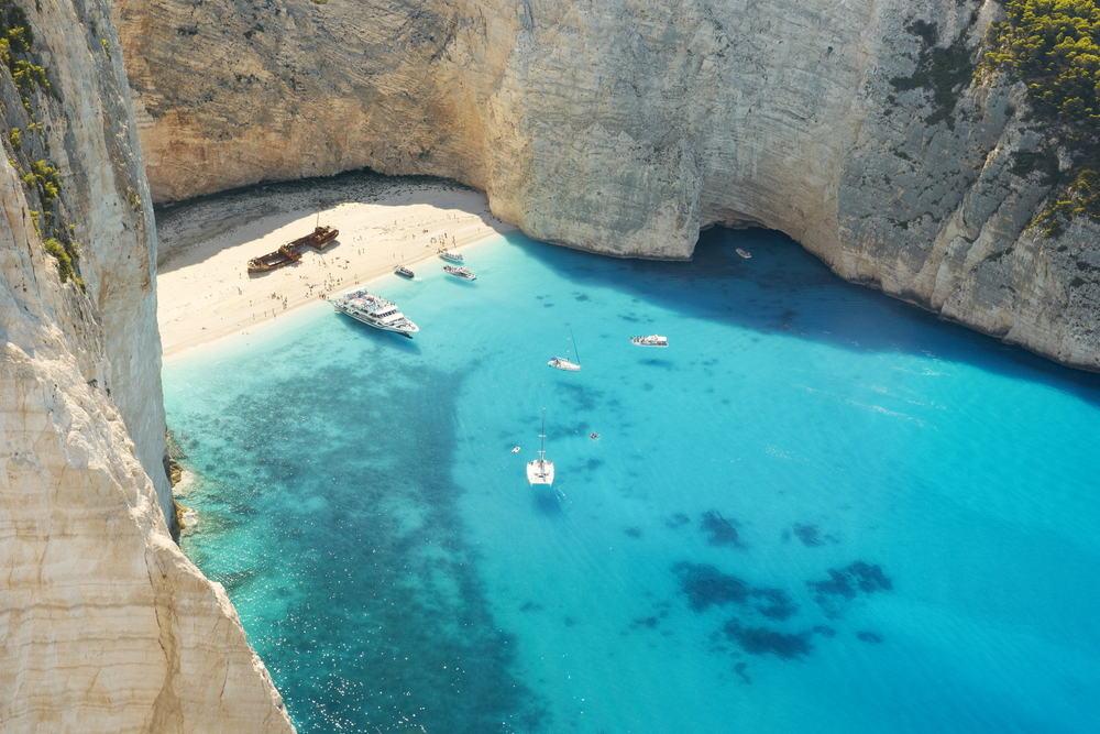 Navagio stranden - Zakynthos i Grækenland