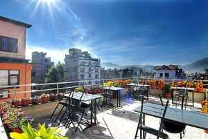Thamel Grand Hotel - Udsigt fra tagterrasse