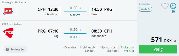 Fly til Prag i efterårsferien 2016