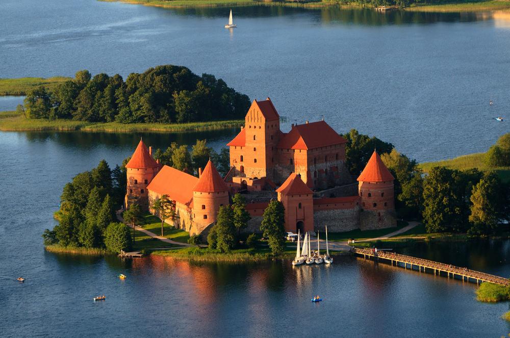 Vilnius i Litauen: Trakai Slottet