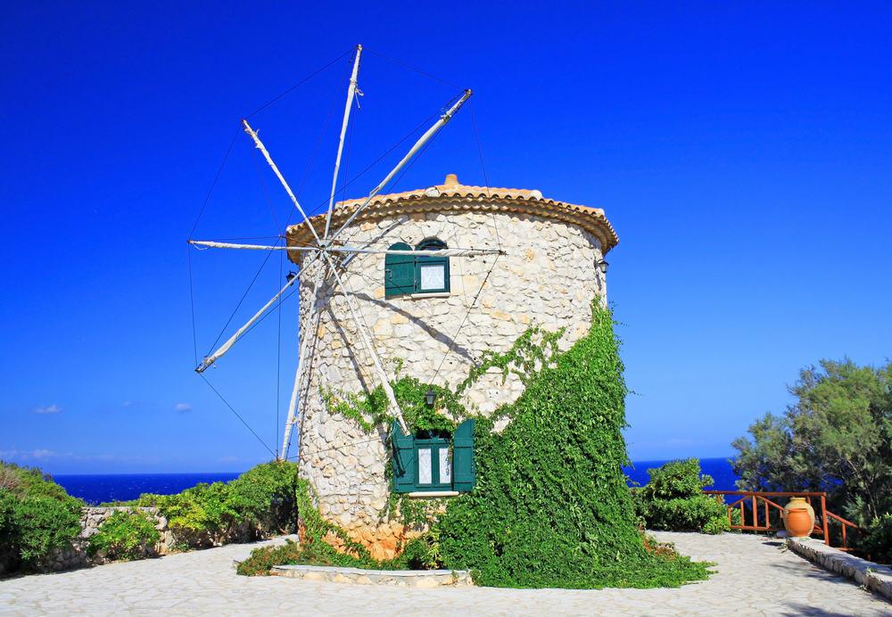 Vindmølle - Zakynthos i Grækenland