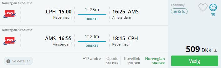 Flybilletter til Amsterdam i Holland