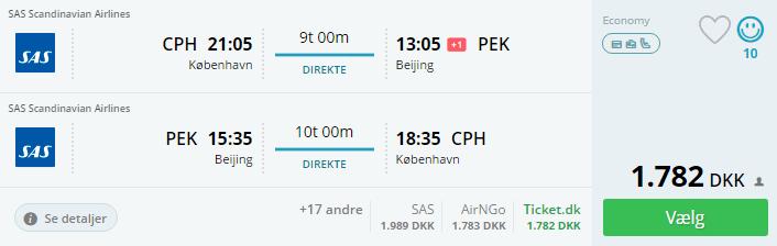 Flybilletter til Beijing i Kina