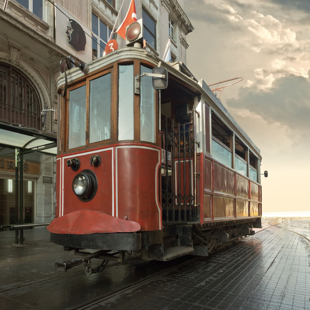 Beyoglu sporvogn - Istanbul i Tyrkiet