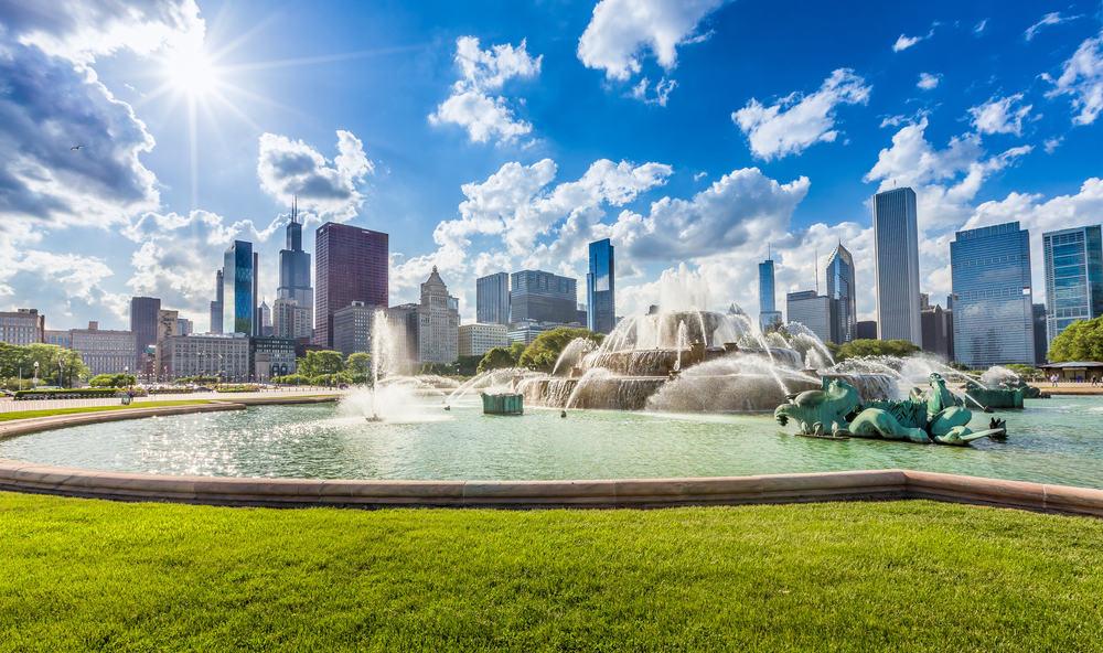 Buckingham Fountain - Chicago i Illinois