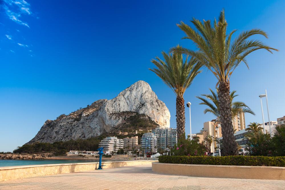 Calpe promenaden - Alicante i Spanien