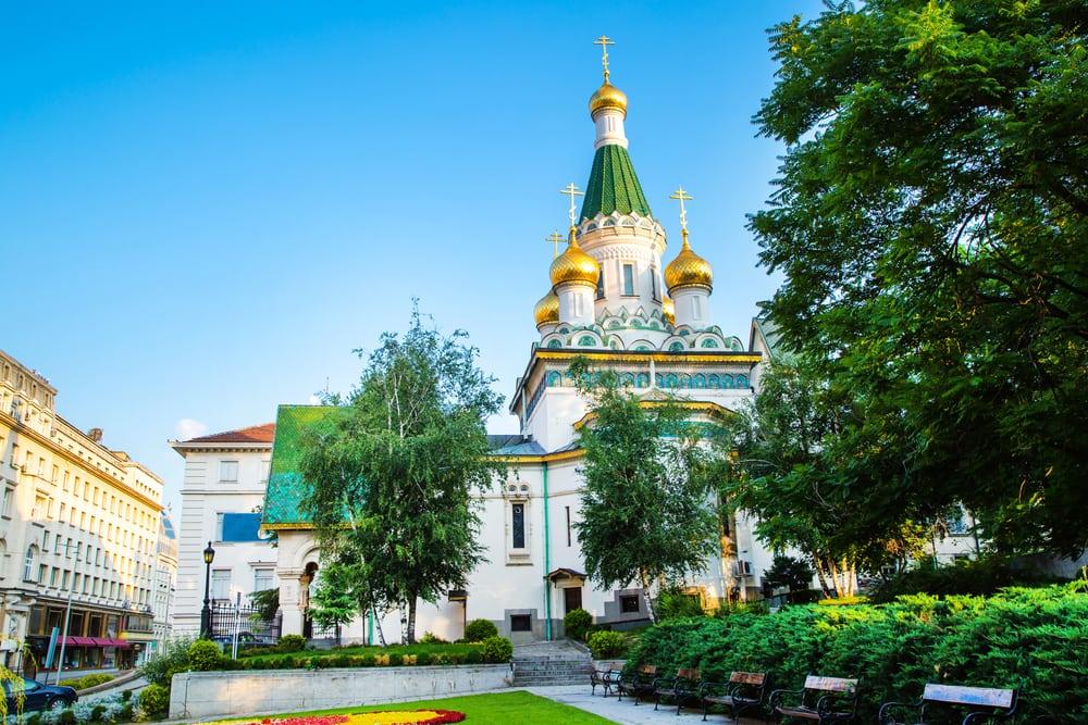 Den russiske St. Nicholas kirka - Sofia i Bulgarien