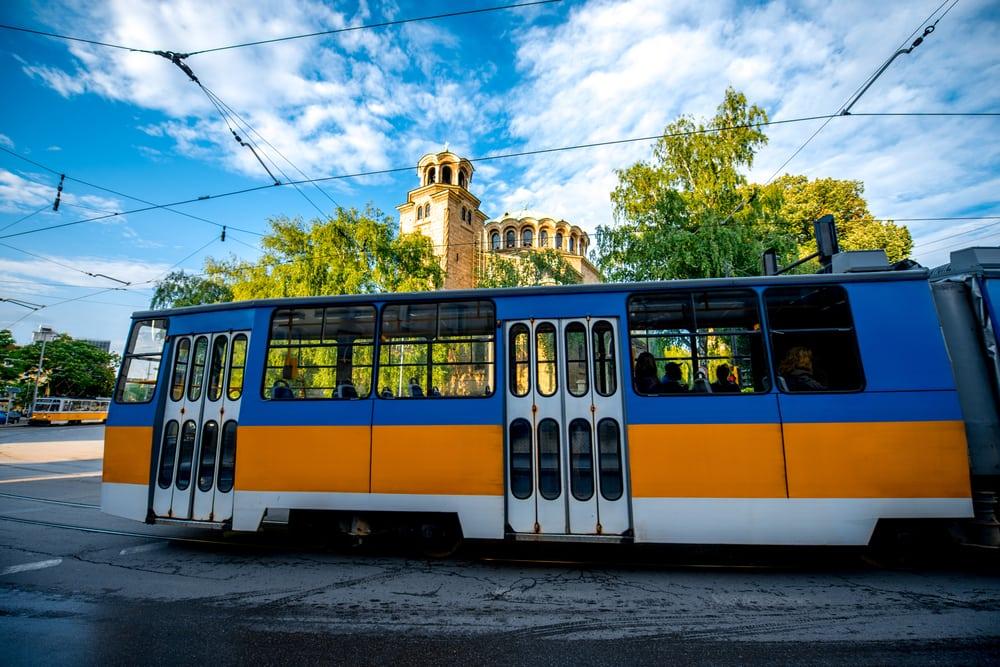 Gammel sporvogn - Sofia i Bulgarien