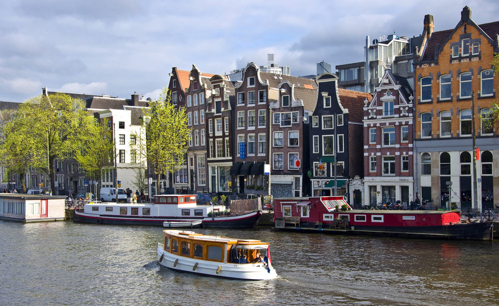 Husbåde - Amsterdam i Holland