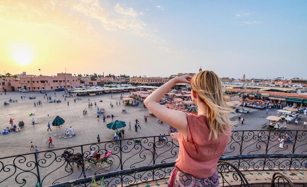 Jamaa el-Fna markedet - Marrakech i Marokko