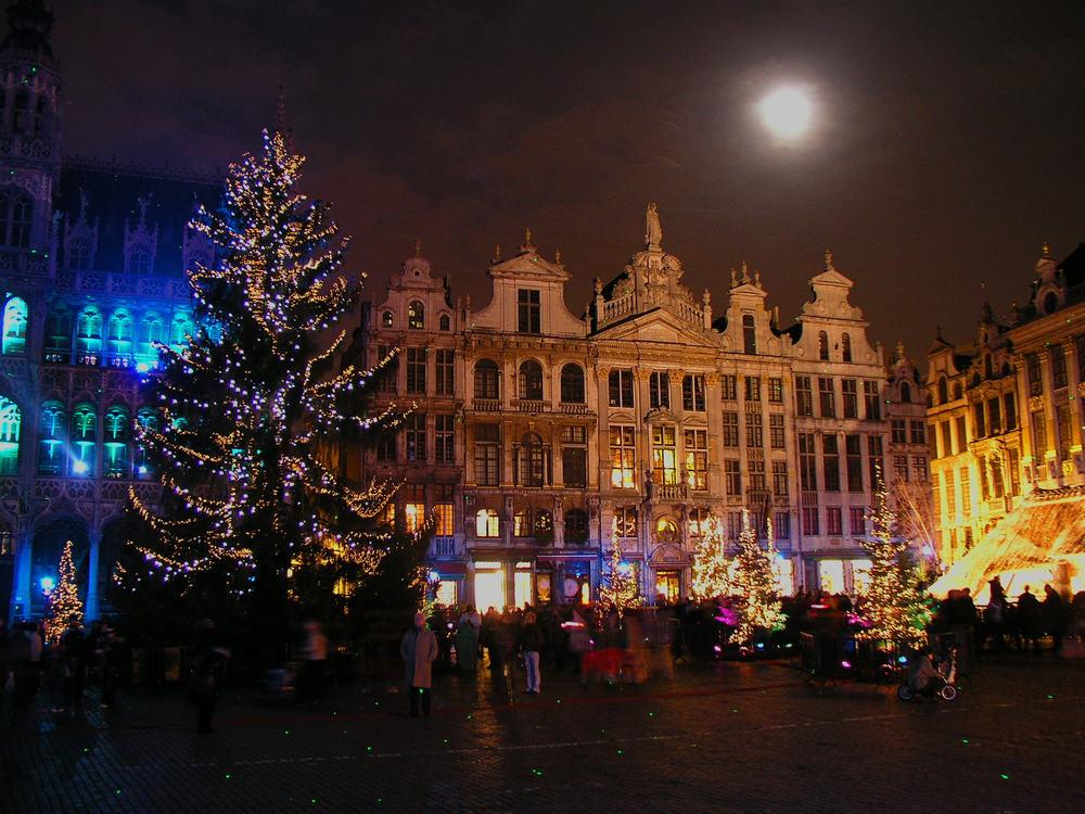 Jul i Bruxelles i Belgien