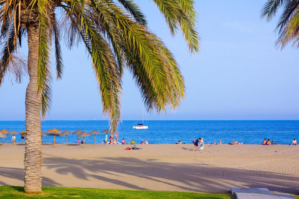 Malagueta Stranden - Malaga i Spanien